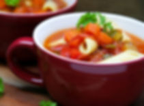 Classic Italian tomato minestrone