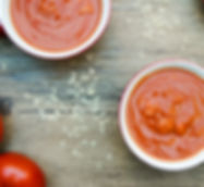 Old fashioned tomato soup with meatballs