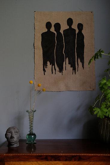 """Olja på linnekanvas, svart """"Fregor"""""""