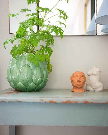"Skulptur, terracotta ""Gustav"""