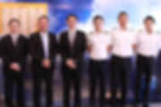 安捷三名畢業學員考取德安航空,由右至左分別為林志達、詹博勛及曾憲弘。.jpg