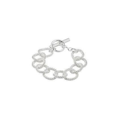 """Sterling Silver Mesh Link 8"""" Bracelet"""