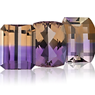Ametrine - a gemstone with bi-colored amethys and citrine colors
