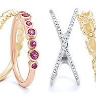 Diamond, Ruby, & Gold Rings