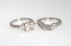 Matching Diamond Bridal Set