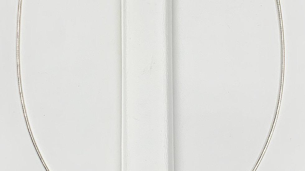 Sterling Silver Adjustable Omega Necklace