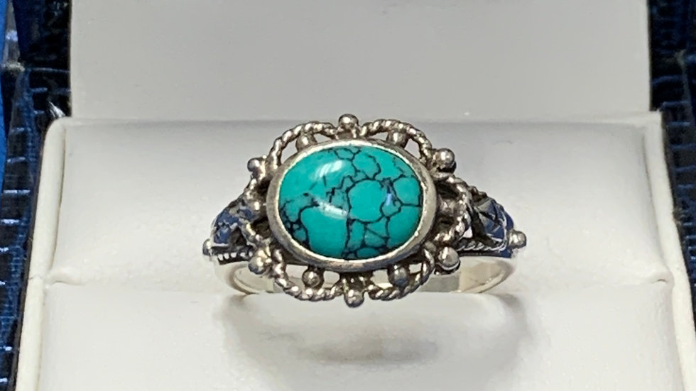 Handmade Native American Indian Turquoise Ring