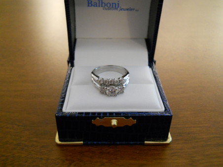 Platinum Diamond Engagement Ring & Wedding Band