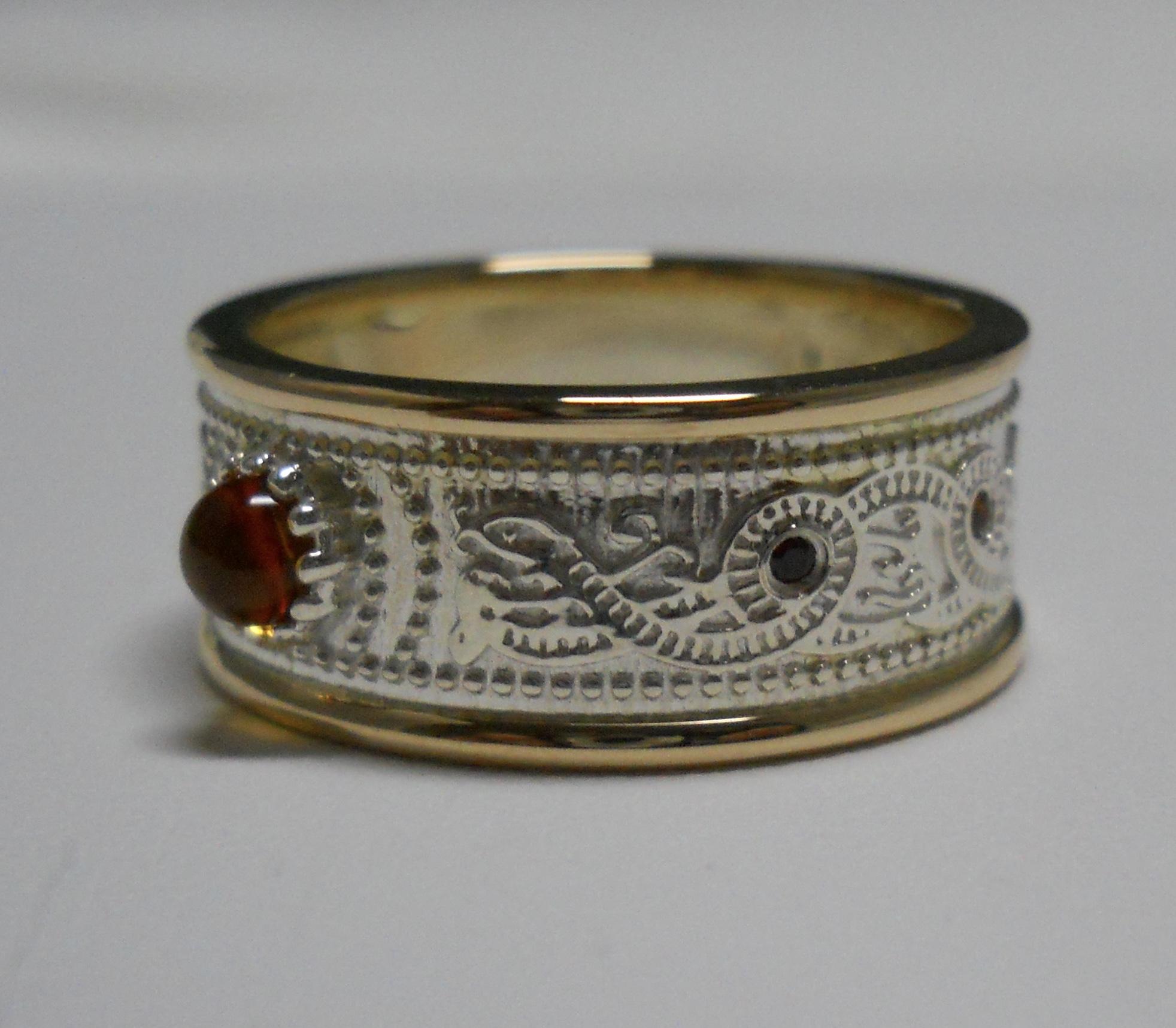 Two-tone Gold Gemstone Ring