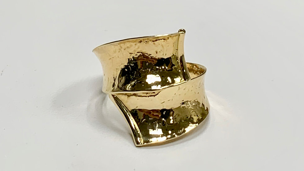 Yellow Gold Bypass Ring