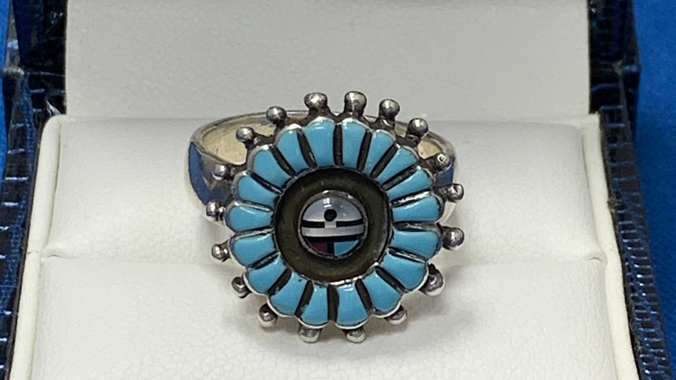 Zuni Sterling Silver Turquoise Ring