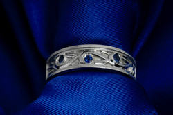 Sapphire Wedding Band
