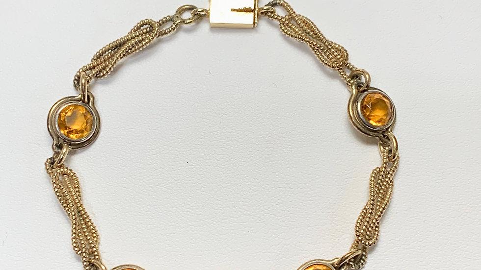 Yellow Gold Citrine Bracelet