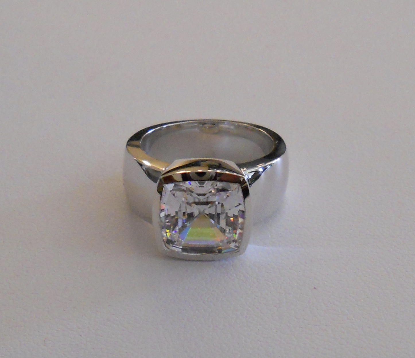 White Gold CZ Ring