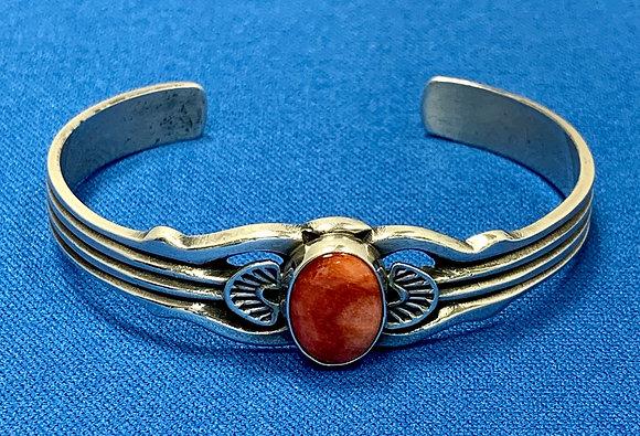Sterling Silver Spondylus Cuff Bracelet
