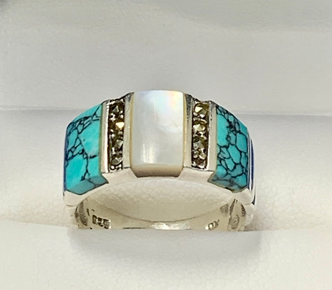 Native American Indian Sterling Silver Gemstone Ring
