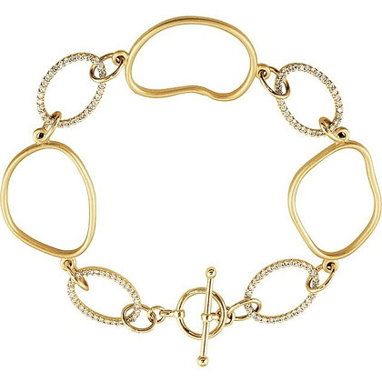 14K Yellow Gold 5/8 CTW Diamond Open Silhouette Bracelet