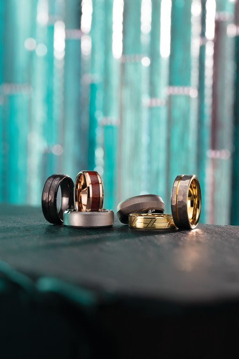 Contemporary Metal Wedding Bands