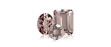 Morganite is a reddish orange throuh slightly puplish red gemstone.