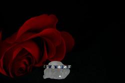 White Gold Sapphire & Diamond Band