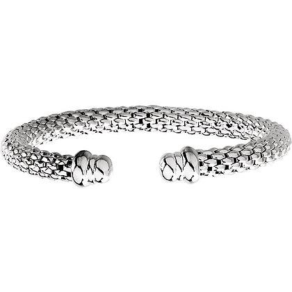 """Sterling Silver Raspberry Cuff 7.5"""" Bracelet"""