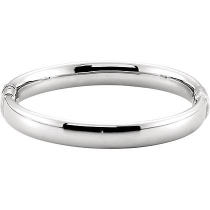 Sterling Silver 9mm Hinged Bangle Bracelet