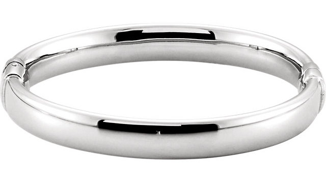Sterling Silver 9mm Hinged Bangle Bracelet