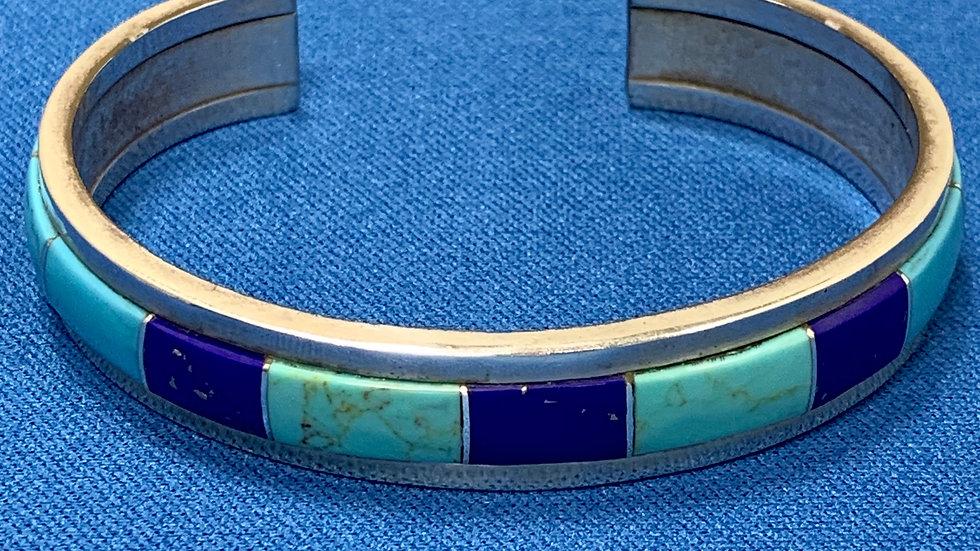 Turquoise & Lapis Cuff Bracelet