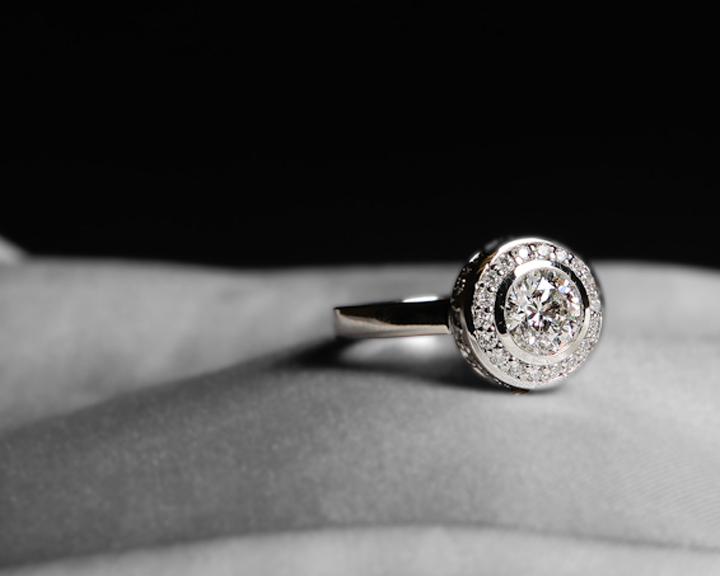 Custom-Made Diamond Engagement Ring