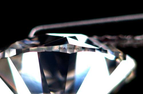 Diamond Laser-Inscription Identification Number