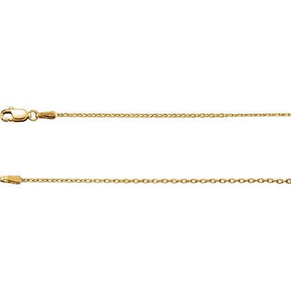 "14K Gold 1.5mm Cable 18"" Chain"