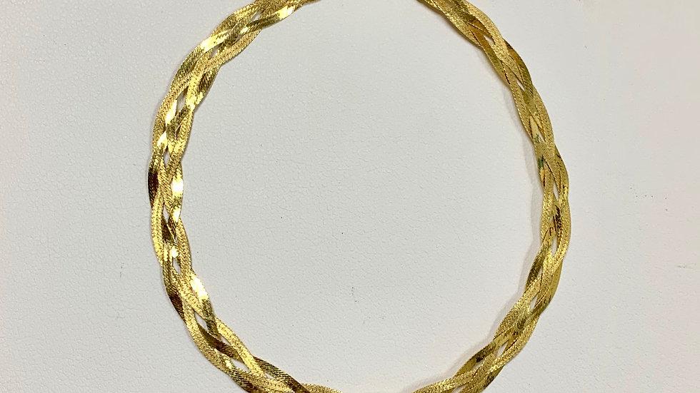 Yellow Gold Braided Bracelet