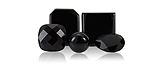 Onyx is a black gemstone used in making jewelery.