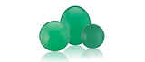 Chrysoprase is a bright green gemstone.  It is cryptocrystalline quartz.