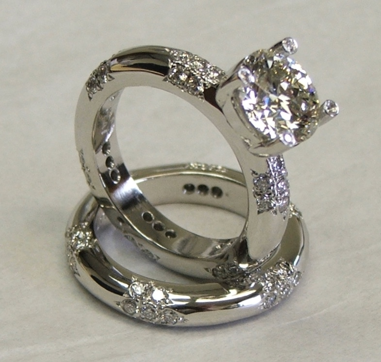 Custom Platinum Diamond Bridal Set