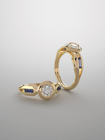 Bezel-Set Engagement Rings