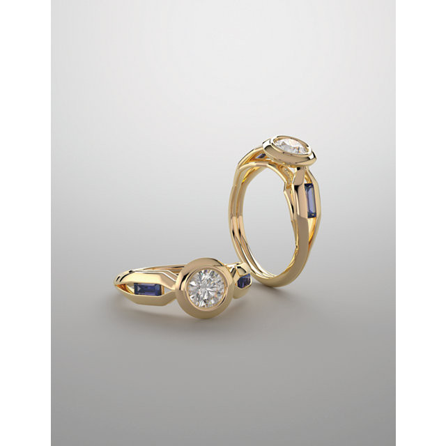 Bezel-Set Engagement Rings
