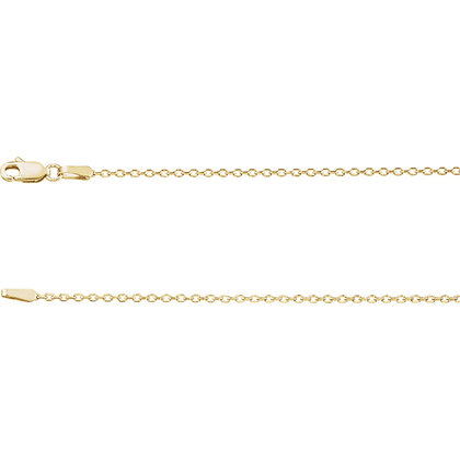 "14K Gold 1.4mm Diamond-Cut Cable 18"" Chain"