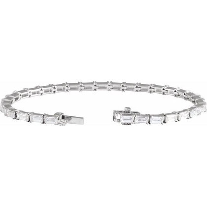 "14K White Gold 6 1/5 CTW Lab-Grown Diamond 7"" Bracelet"