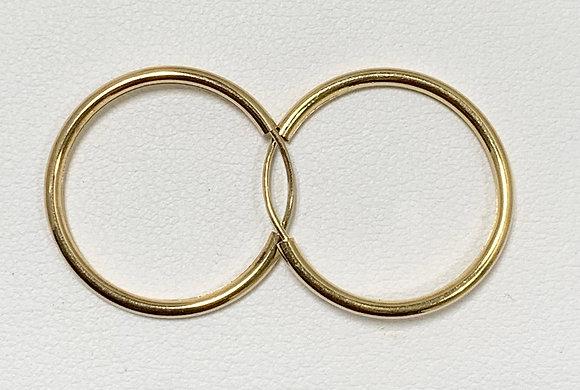 Yellow Gold Endless Hoop Earrings