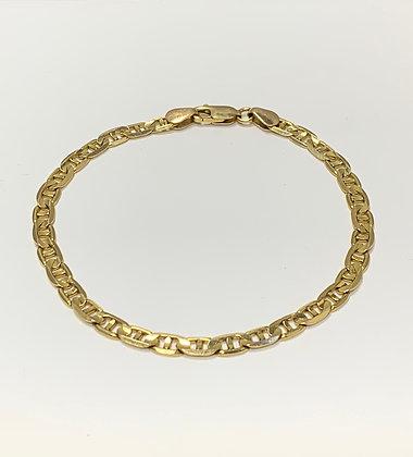 Yellow Gold Anchor Link Bracelet