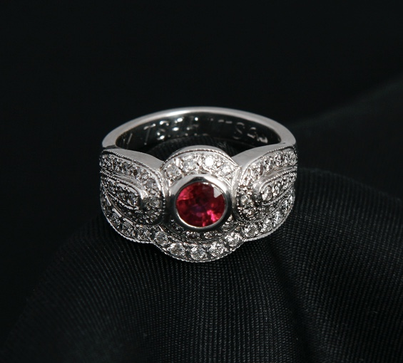 Antique Style Dome Ring Bridal Set