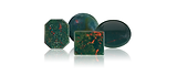 Bloodstone is a gemstone is dark green with red to brownish red spots.  It is he aternate birthston for March