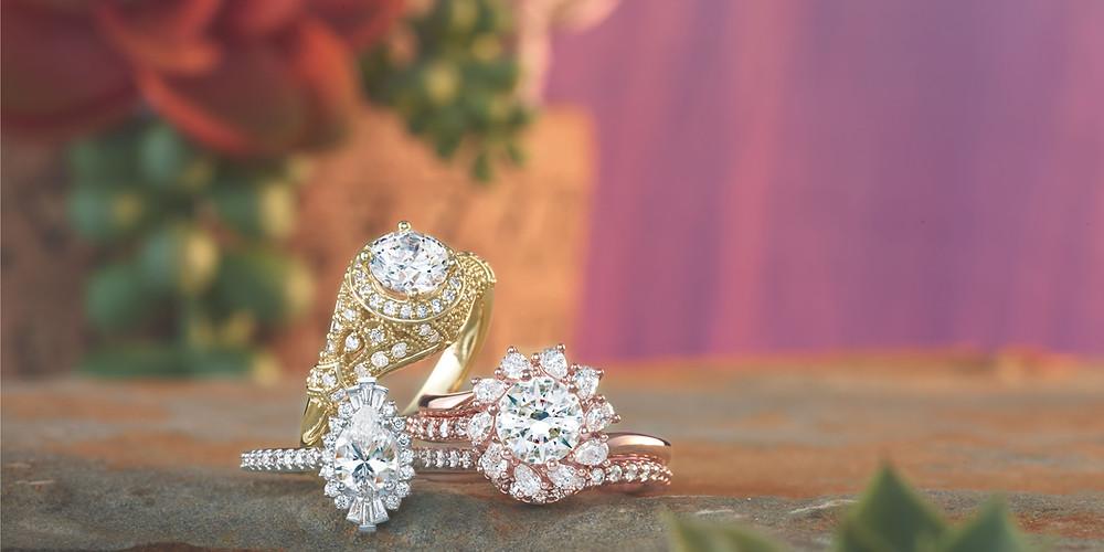 Diamond Engagement Rings & Diamond Wedding Band