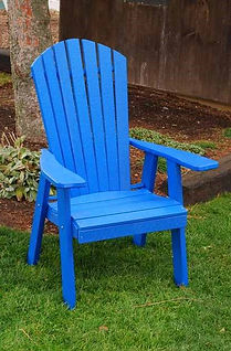 Item 882 Upright Adirondack Chair- Blue.