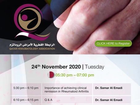 Qatar Rheumatology Association Live Webinar