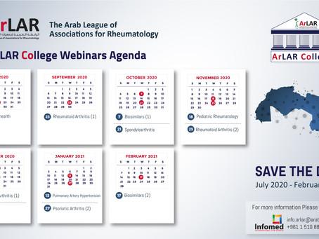 ArLAR College- Calendar of Webinars