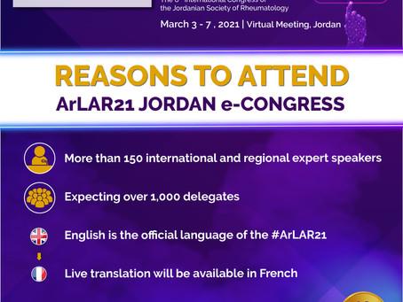Why to Attend ArLAR21 Jordan e-Congress?