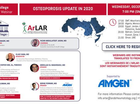 ArLAR College Osteoporosis Update in 2020 Webinar