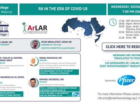 ArLAR College RA IN THE ERA OF COVID-19 Webinar
